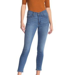 """Madewell 9"""" High Rise Skinny Crop ankle Jeans Angelo color size 25"""